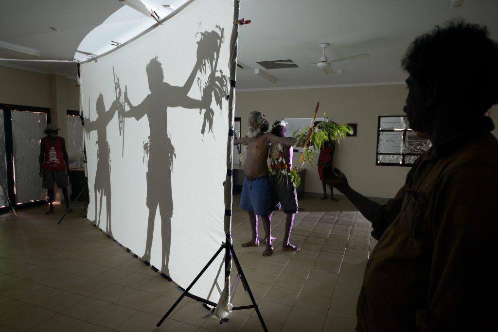 Shadow work for Gaṉdjaḻaḻa the Sugar Bag Hunter Project